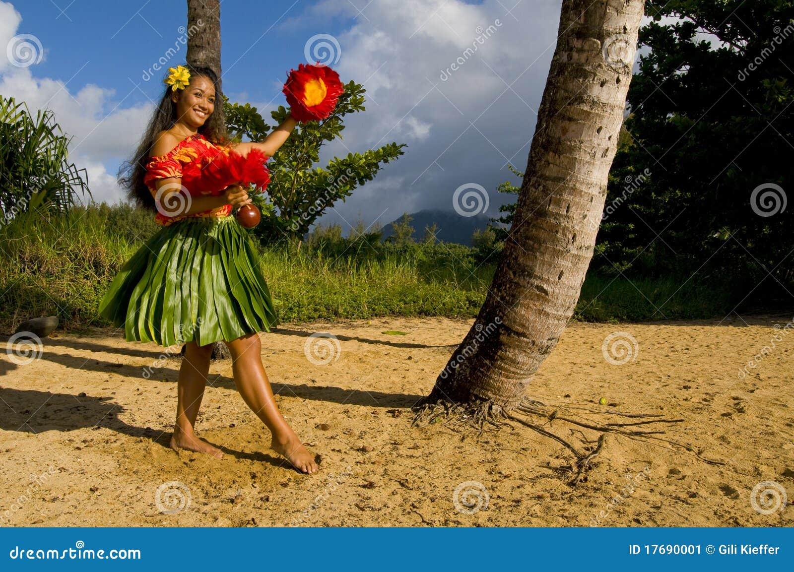 детеныши hula танцора