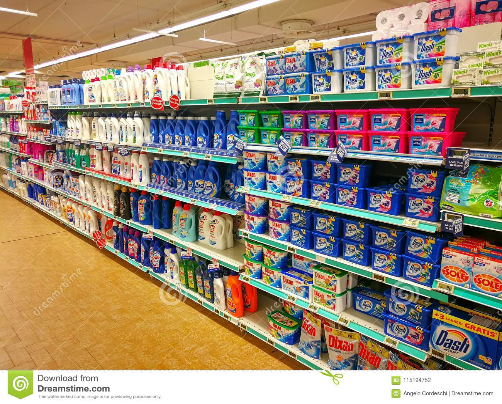 Детержентный отдел, мыла и продукты