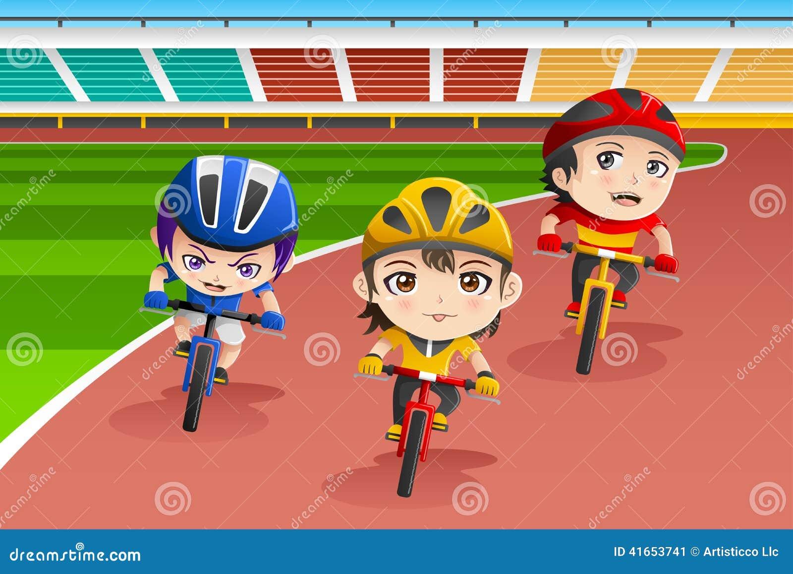 Дети в гонке велосипеда