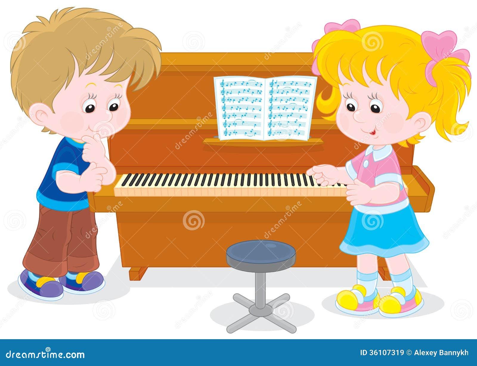 Дети играют рояль