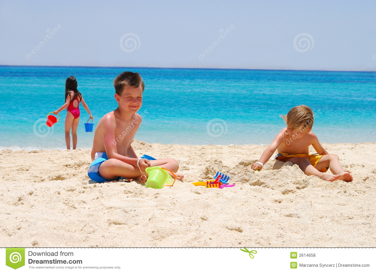дети пляжа