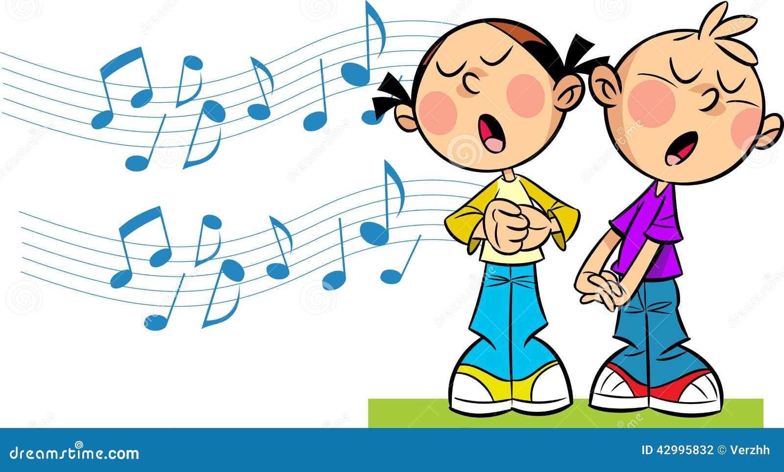 Картинки детей поющих рисованные