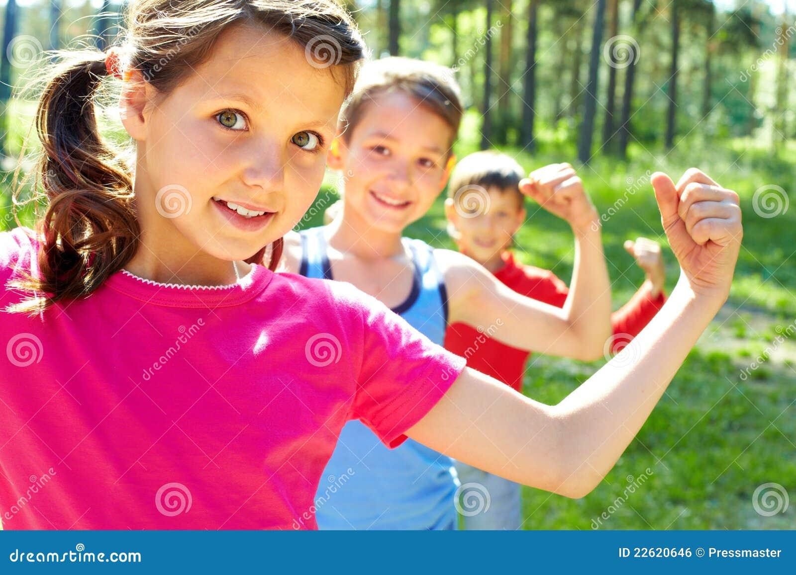 дети сильные