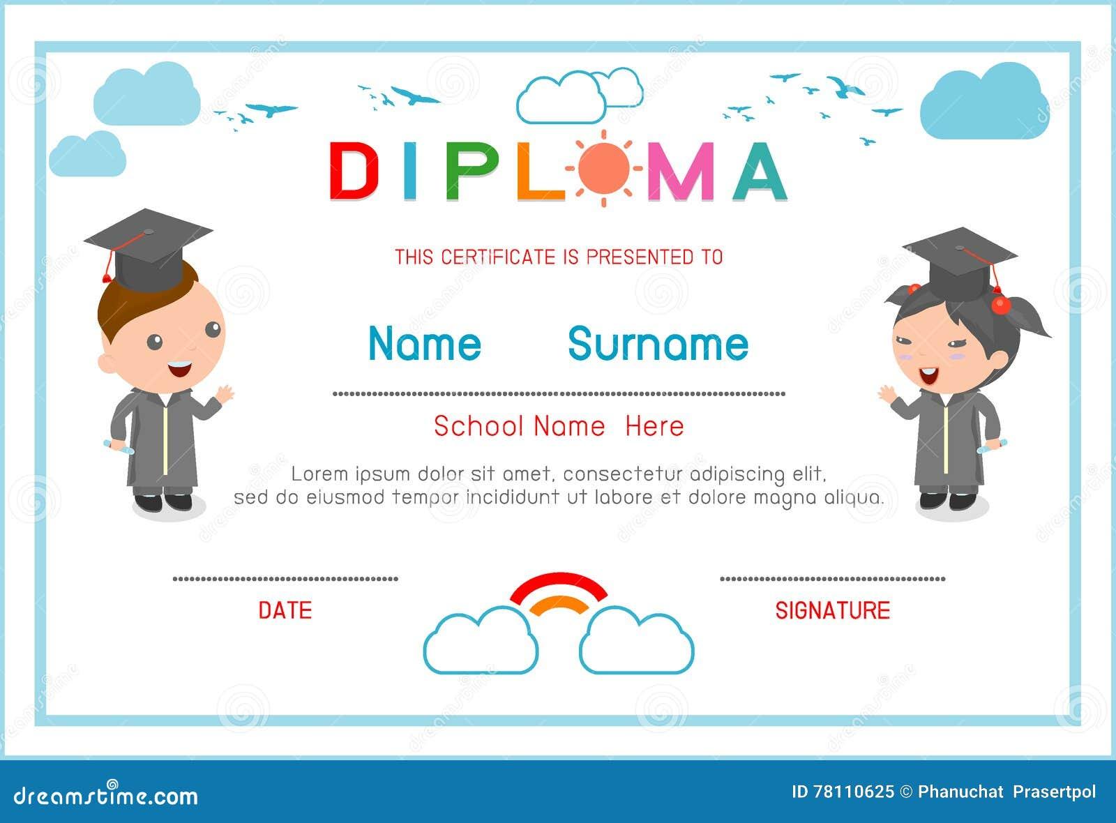 Preschool graduation diplomas robertottni preschool graduation diplomas yelopaper Choice Image