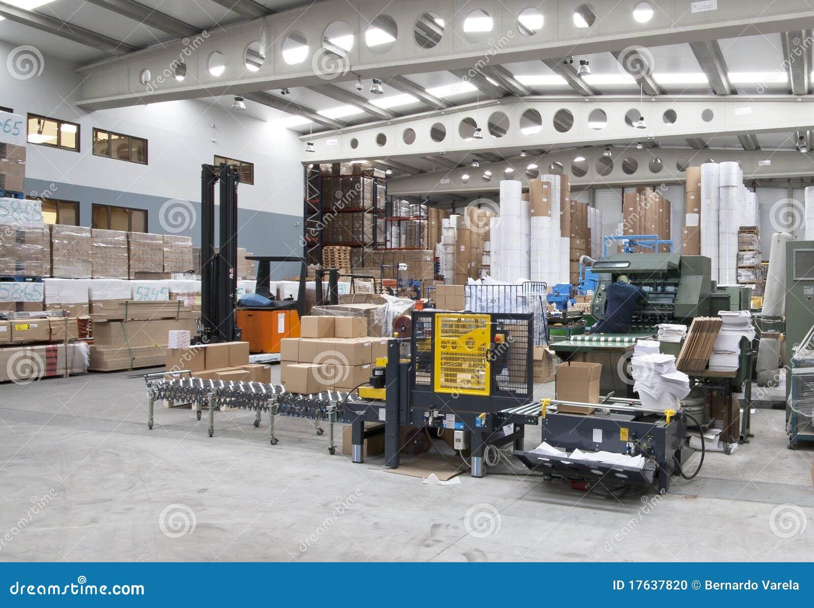 деятельность печатания промышленного завода