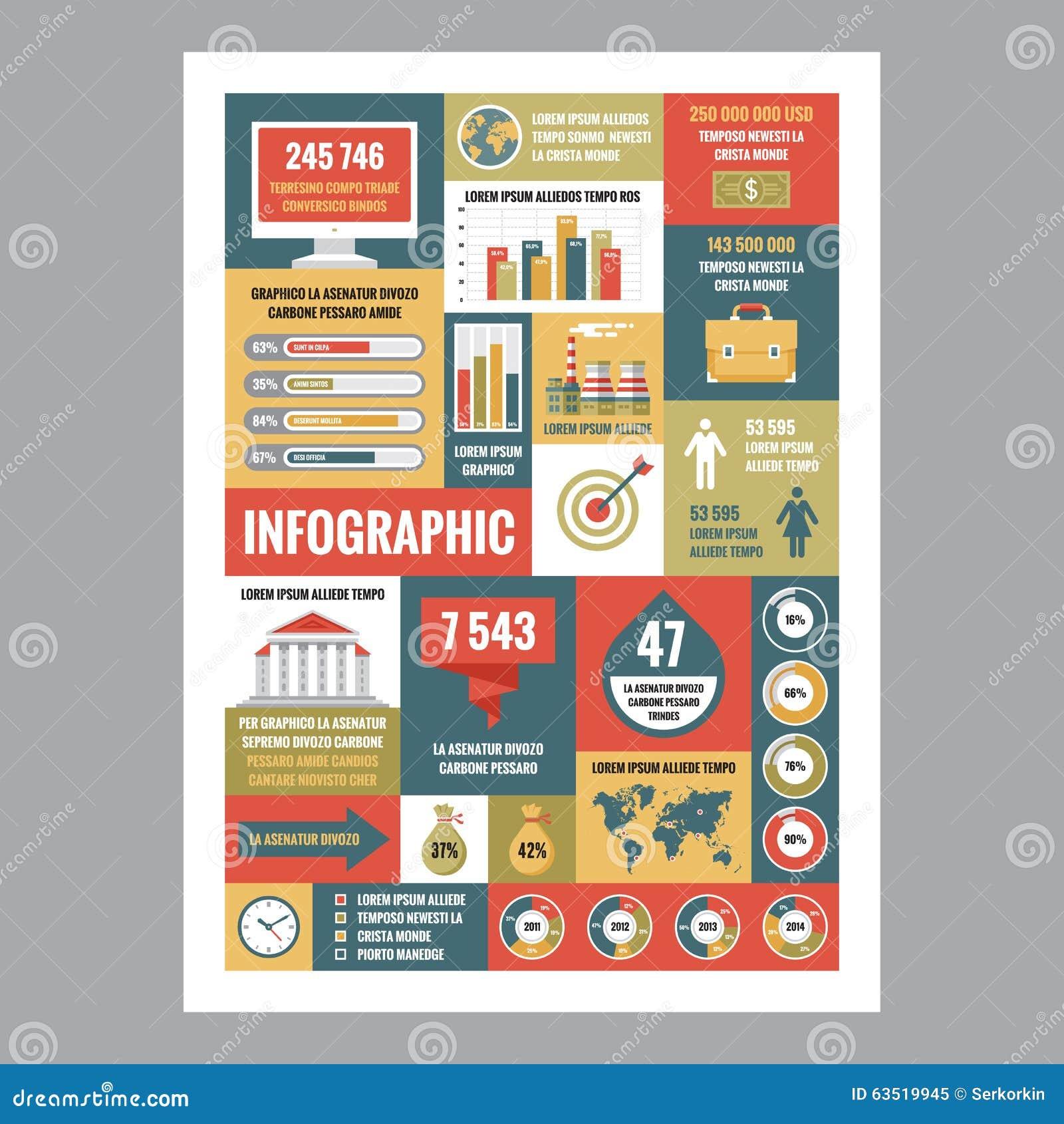 Дело infographic - плакат мозаики с значками в плоском стиле дизайна установленные pictograms интернета икон vector вебсайт сети