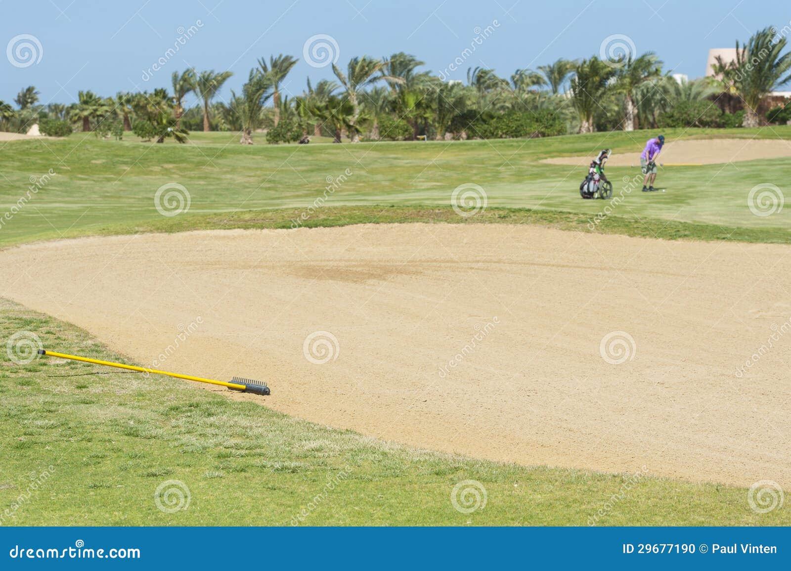Дзот на поле для гольфа