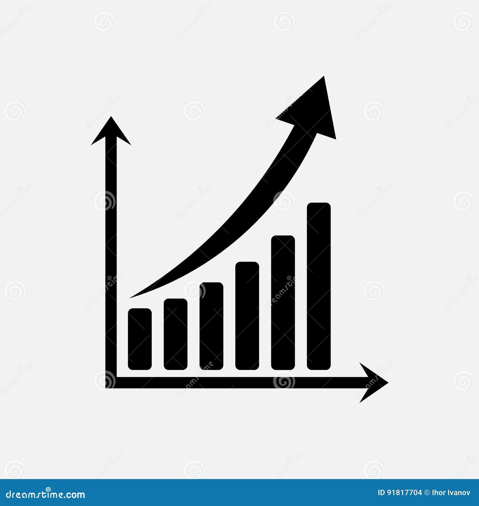 Диаграмма значка торговли, обменных курсов