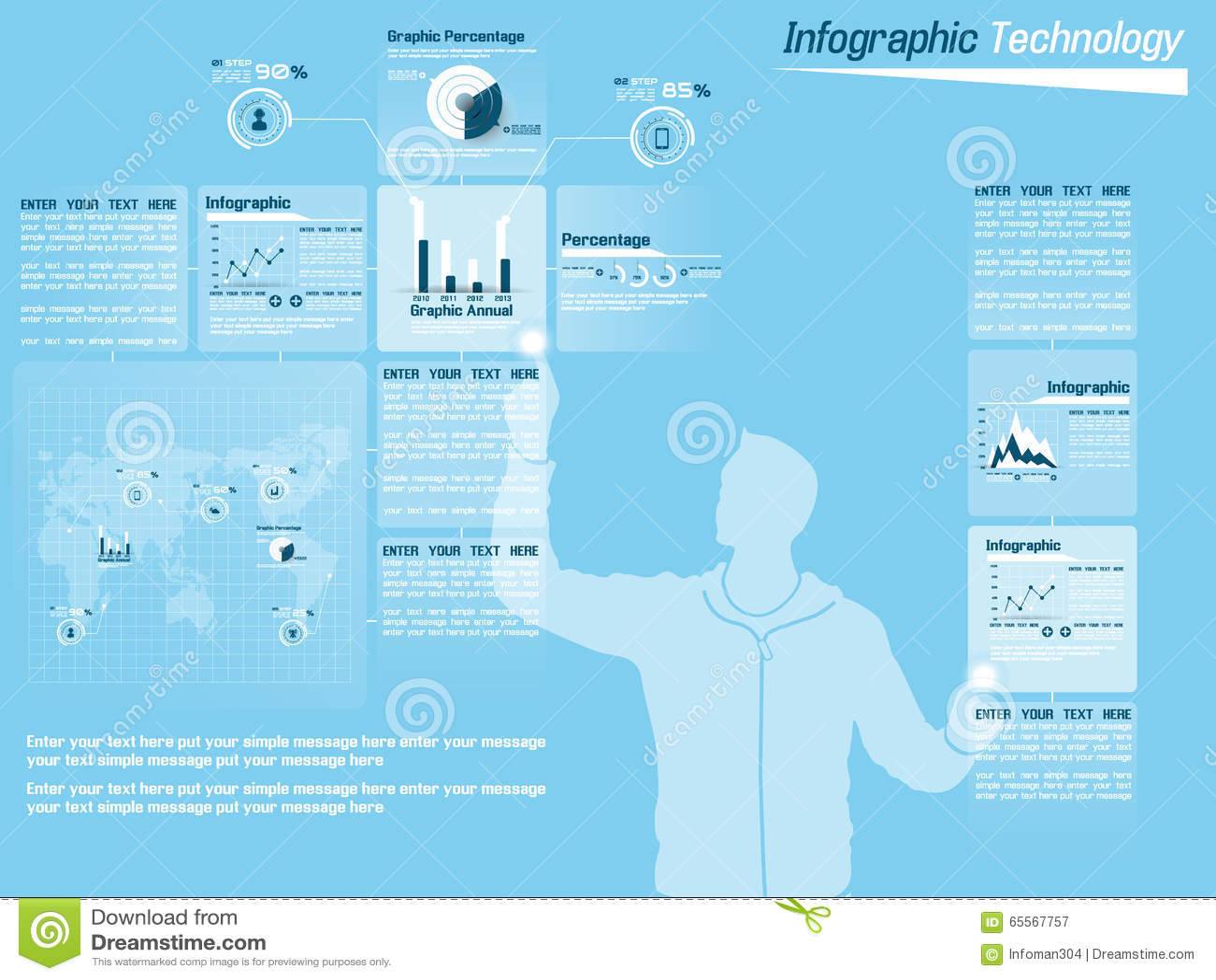 Диаграмма и график элементов Infographic демографические