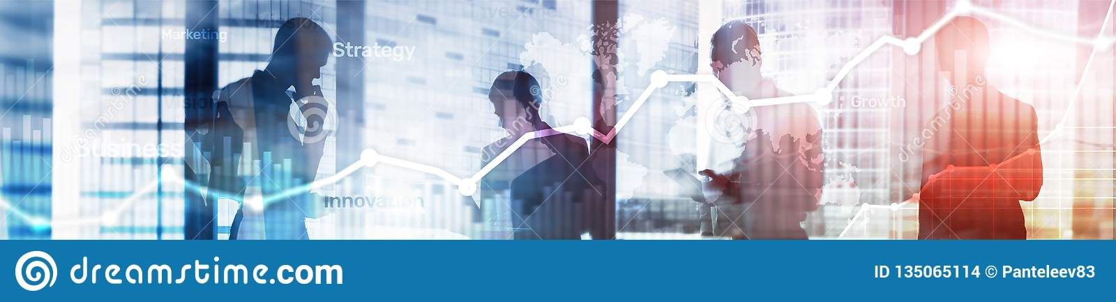 Диаграмма, диаграмма и диаграмма двойной экспозиции предпосылки дела абстрактные Всемирная карта и Глобальный бизнес и финансовое