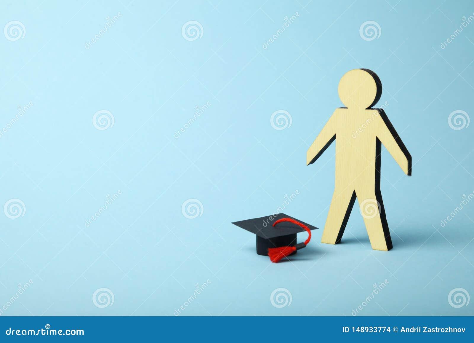 Диаграмма студента, учить и концепция образования