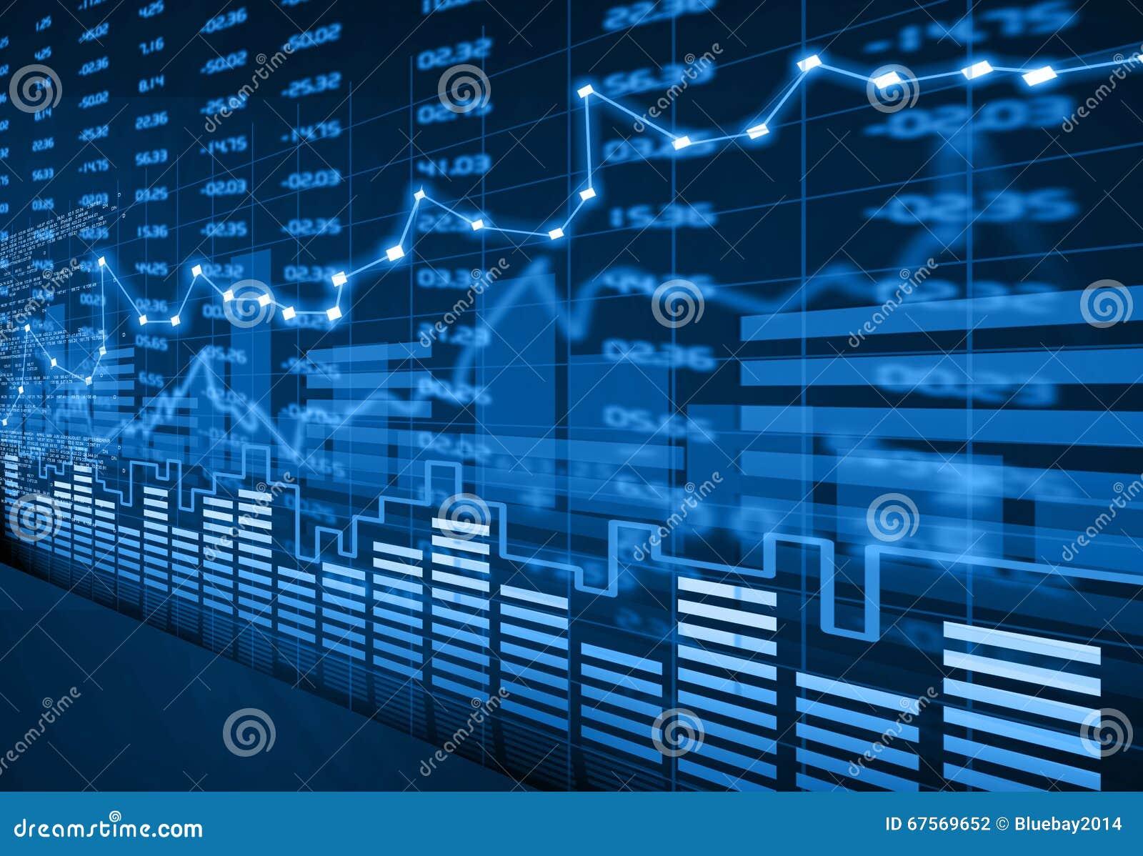 Диаграмма фондовой биржи