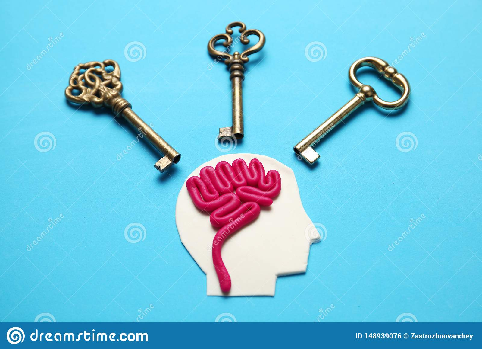 Диаграмма человека и 3 ключей Коммерческие задачи и решение