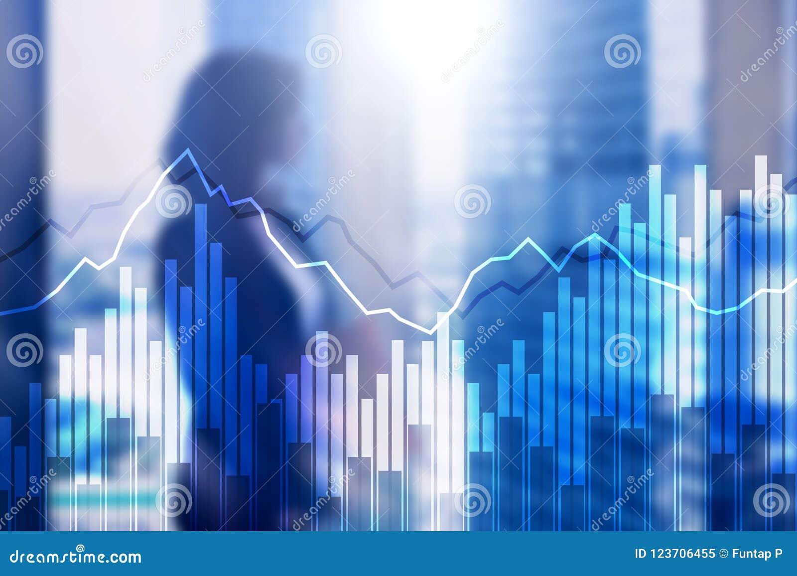 Диаграммы и диаграммы двойной экспозиции финансовые Концепция дела, экономики и вклада