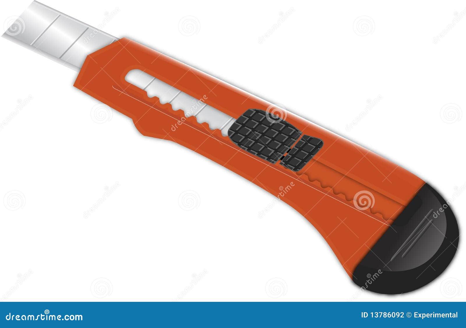 диез бумаги ножа резца красный