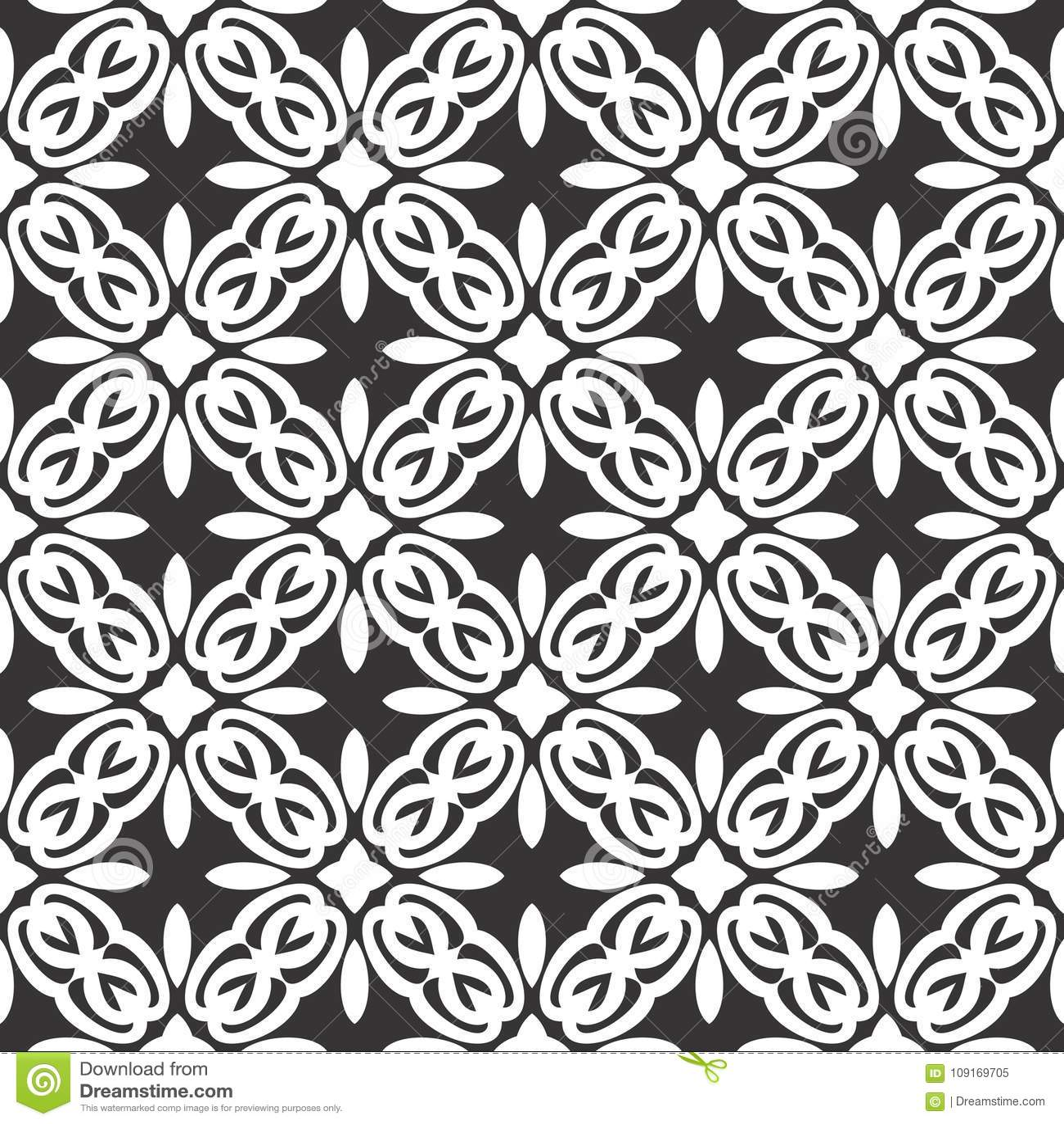 Дизайны повторения вектора черные белые