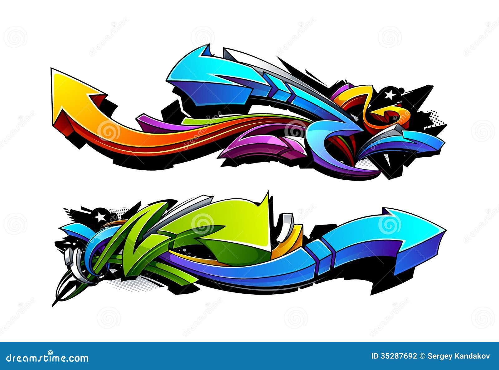 Дизайны стрелок граффити