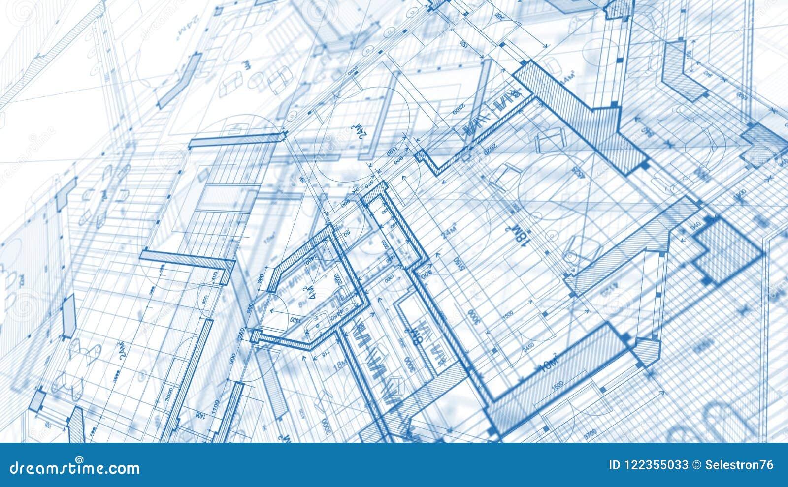 Дизайн архитектуры: план светокопии - иллюстрация mod плана