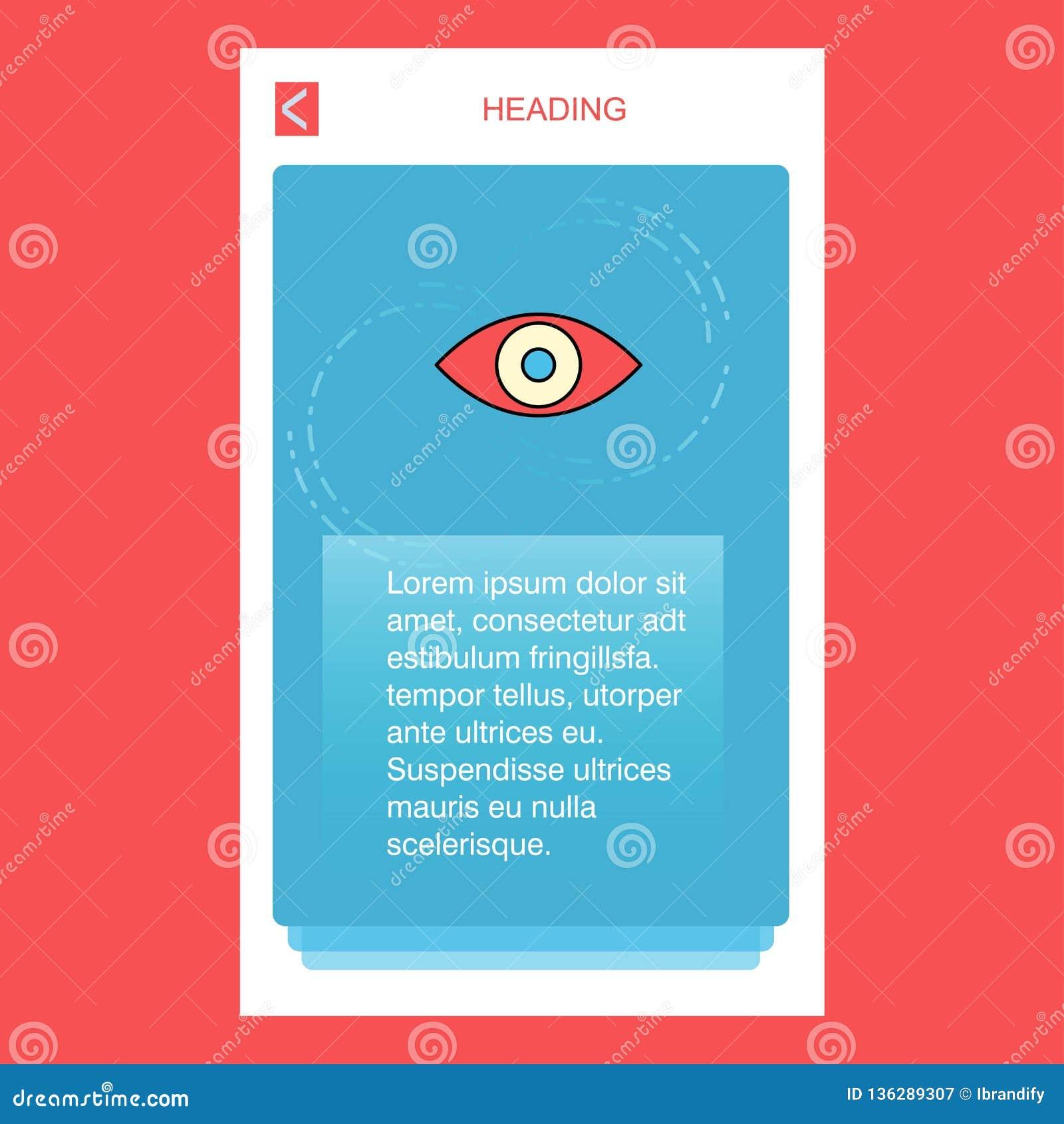 Дизайн дизайна знамени глаза мобильный вертикальный вектор