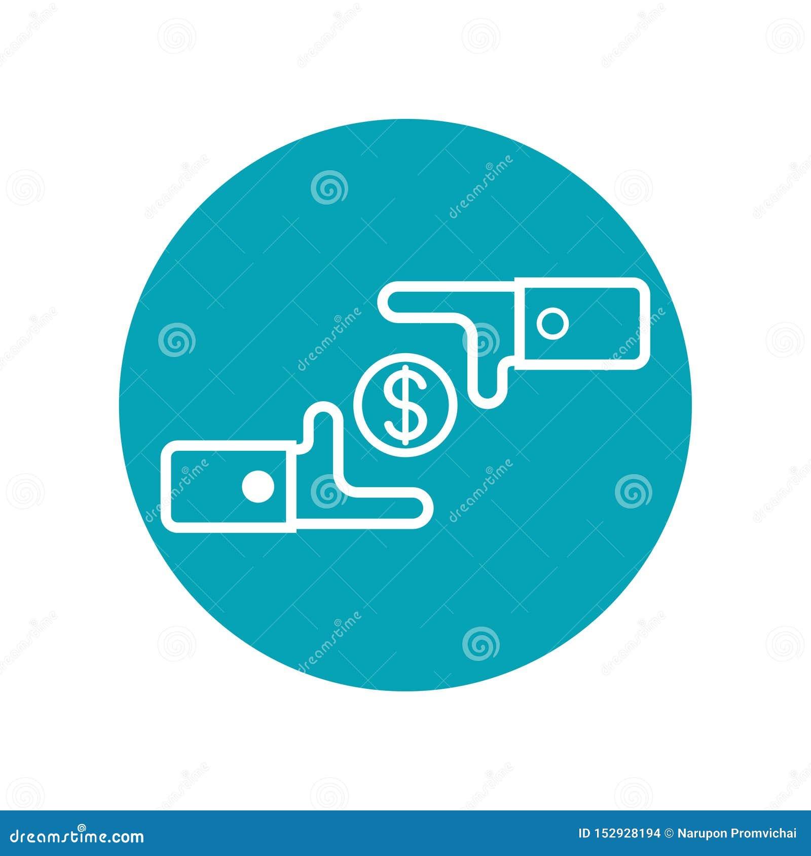 Дизайн значка в концепции exchage денег r