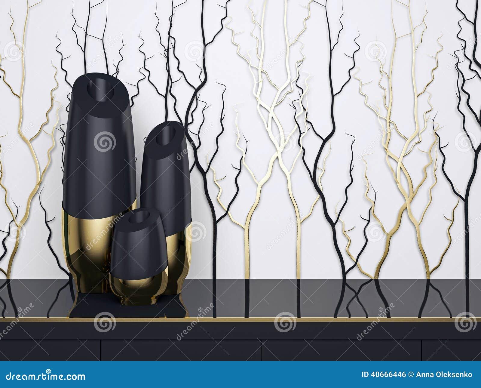 Дизайн интерьера Роскошные вазы