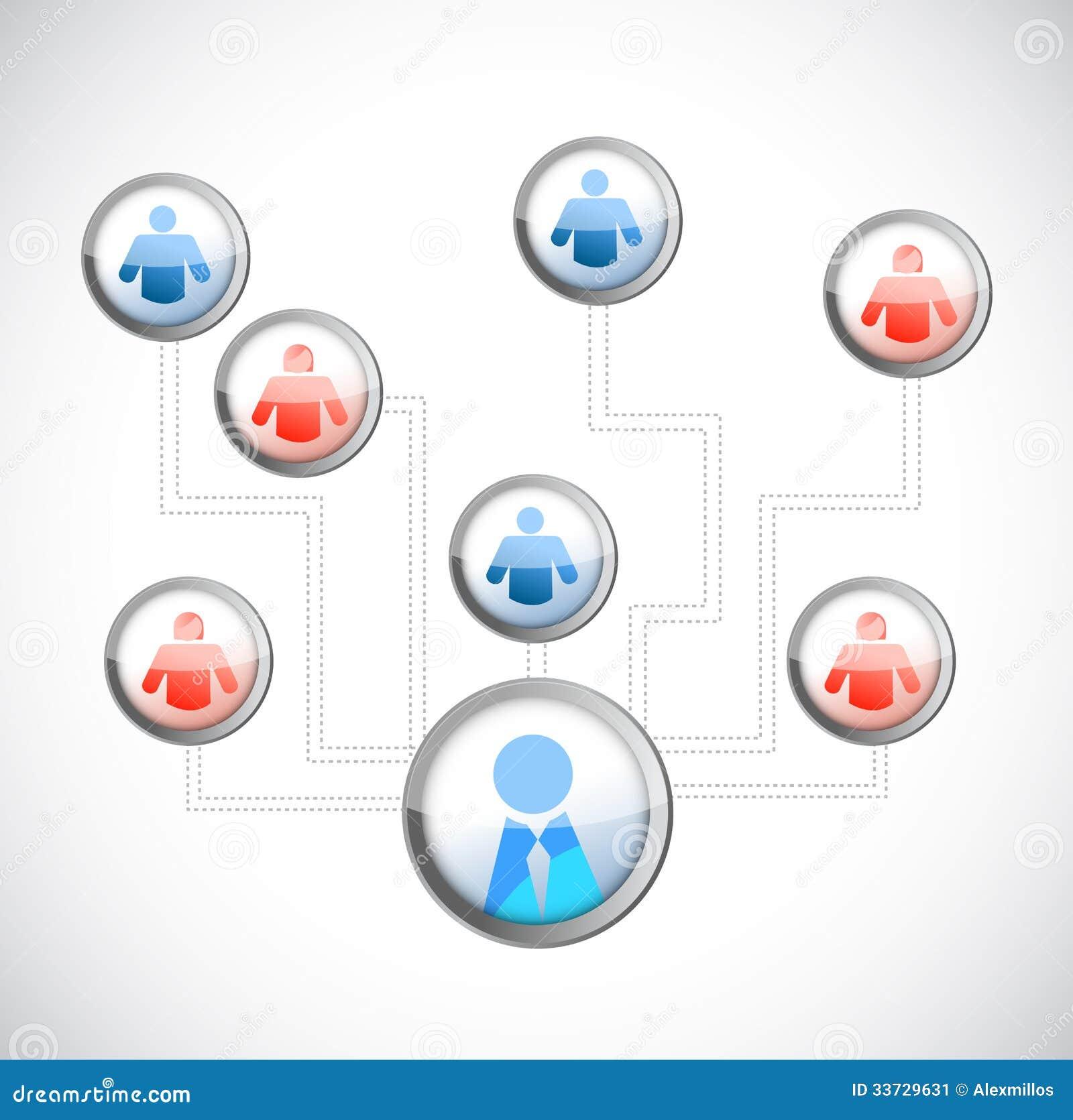 Дизайн иллюстрации диаграммы людей