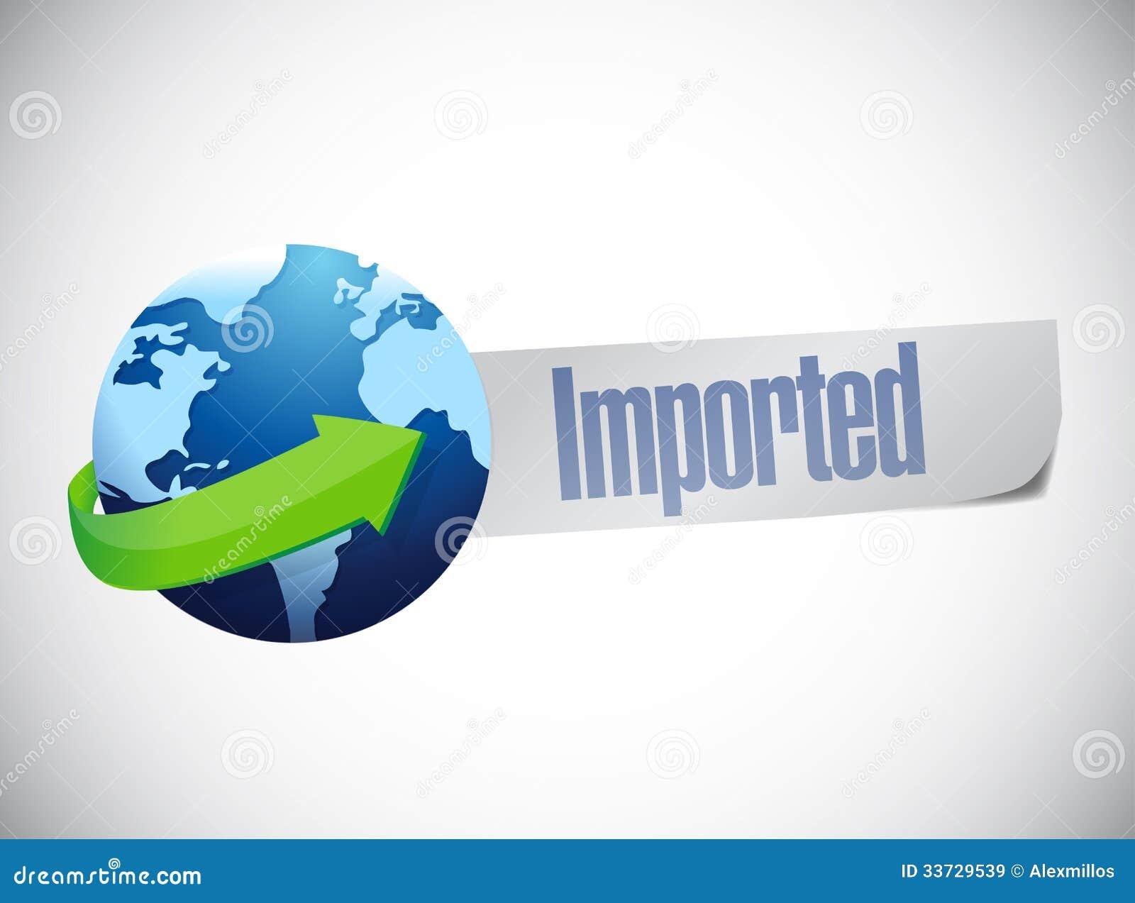 Дизайн иллюстрации карты мира глобуса импорта