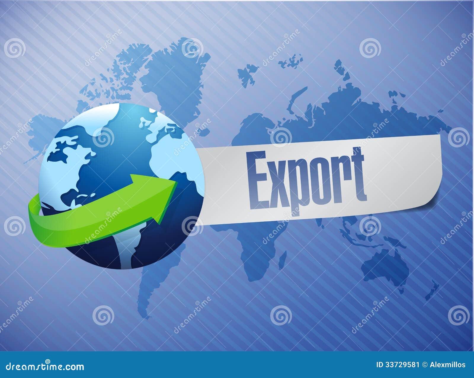 Дизайн иллюстрации карты мира экспорта