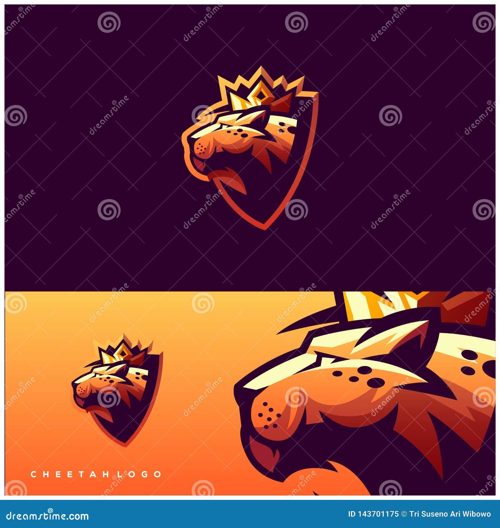 Дизайн логотипа гепарда готовый для использования