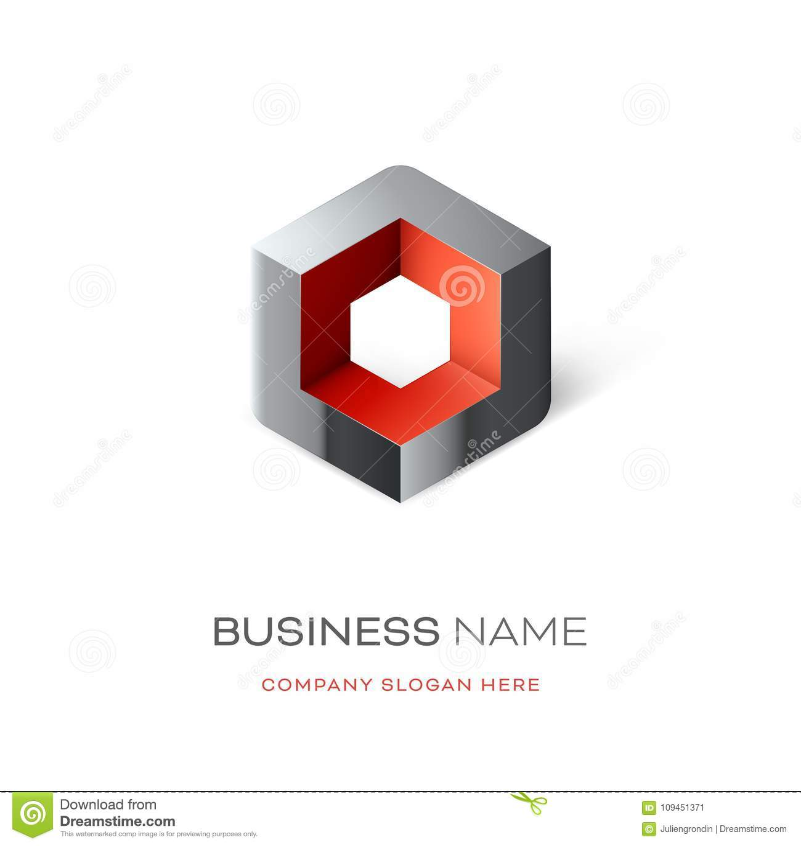 Дизайн логотипа куба Astract
