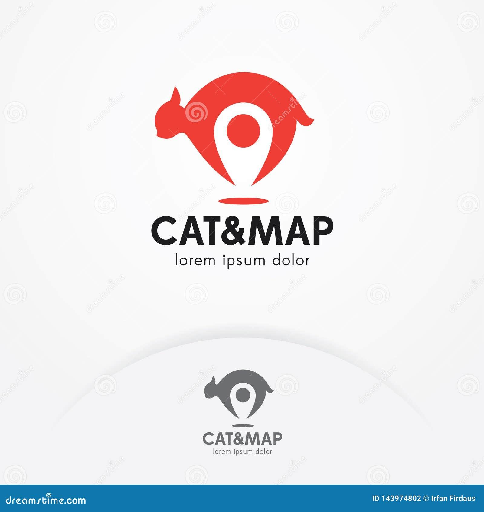 Дизайн логотипа локатора кота