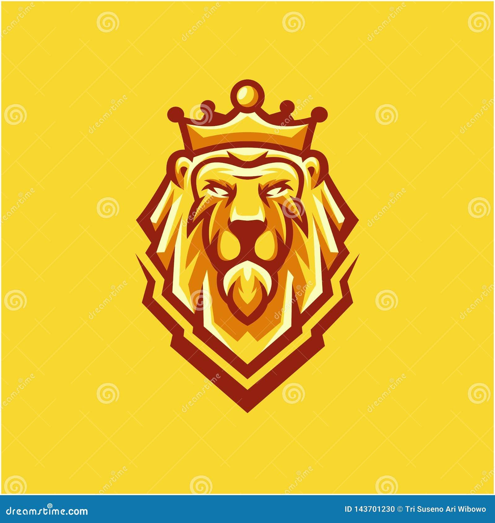 Дизайн логотипа льва короля для вашей компании