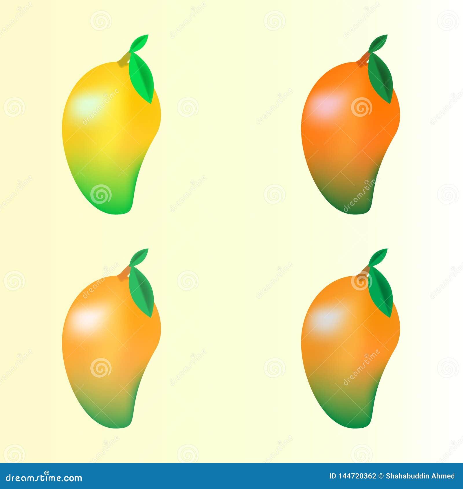 Дизайн логотипа плодов манго для вашей компании