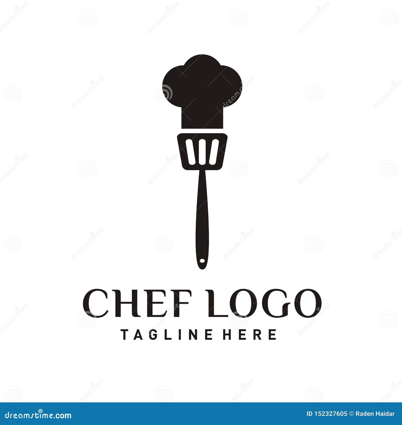 Дизайн логотипа ресторана или значок шеф-повара
