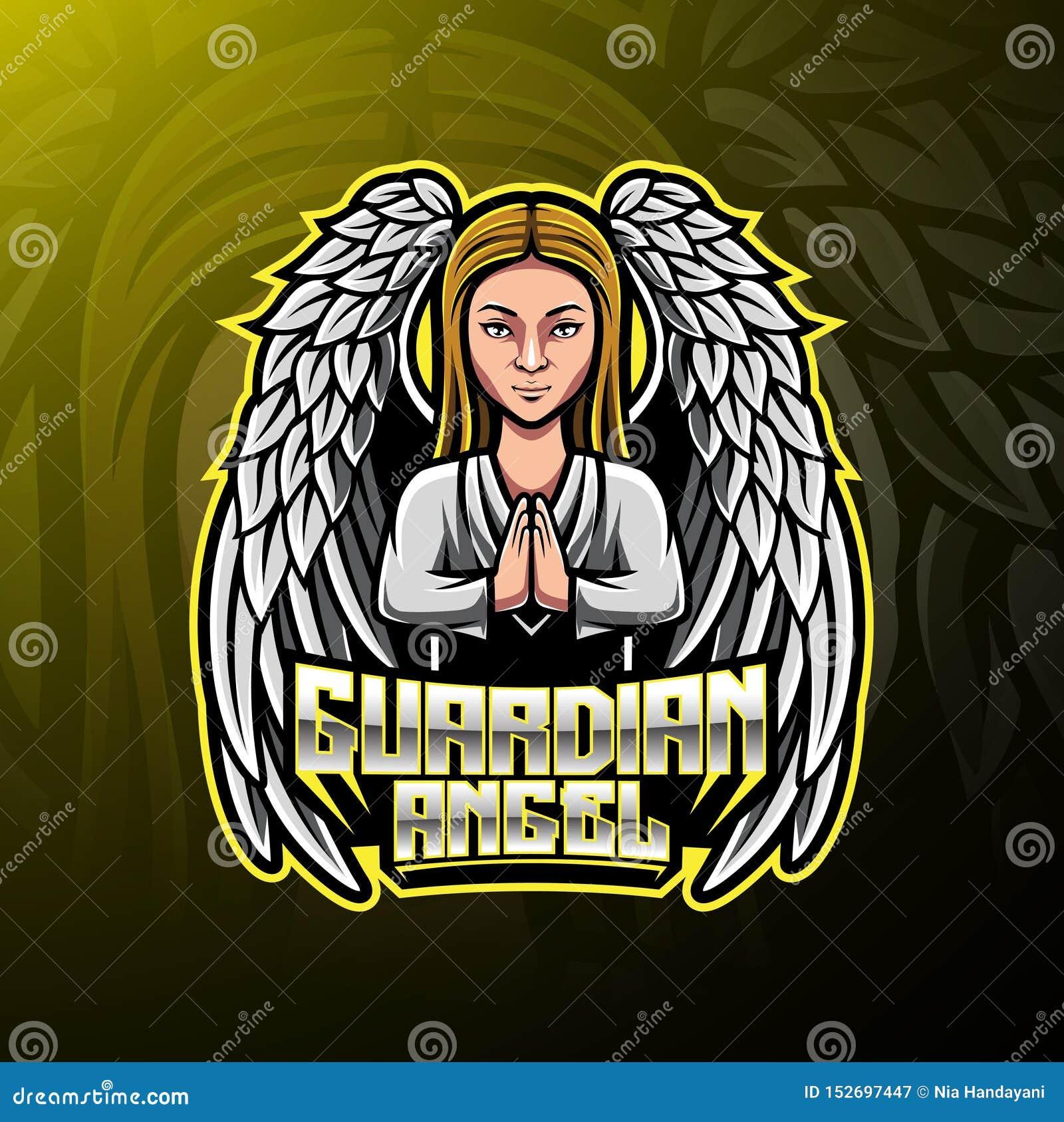 Дизайн логотипа талисмана ангел-хранителя