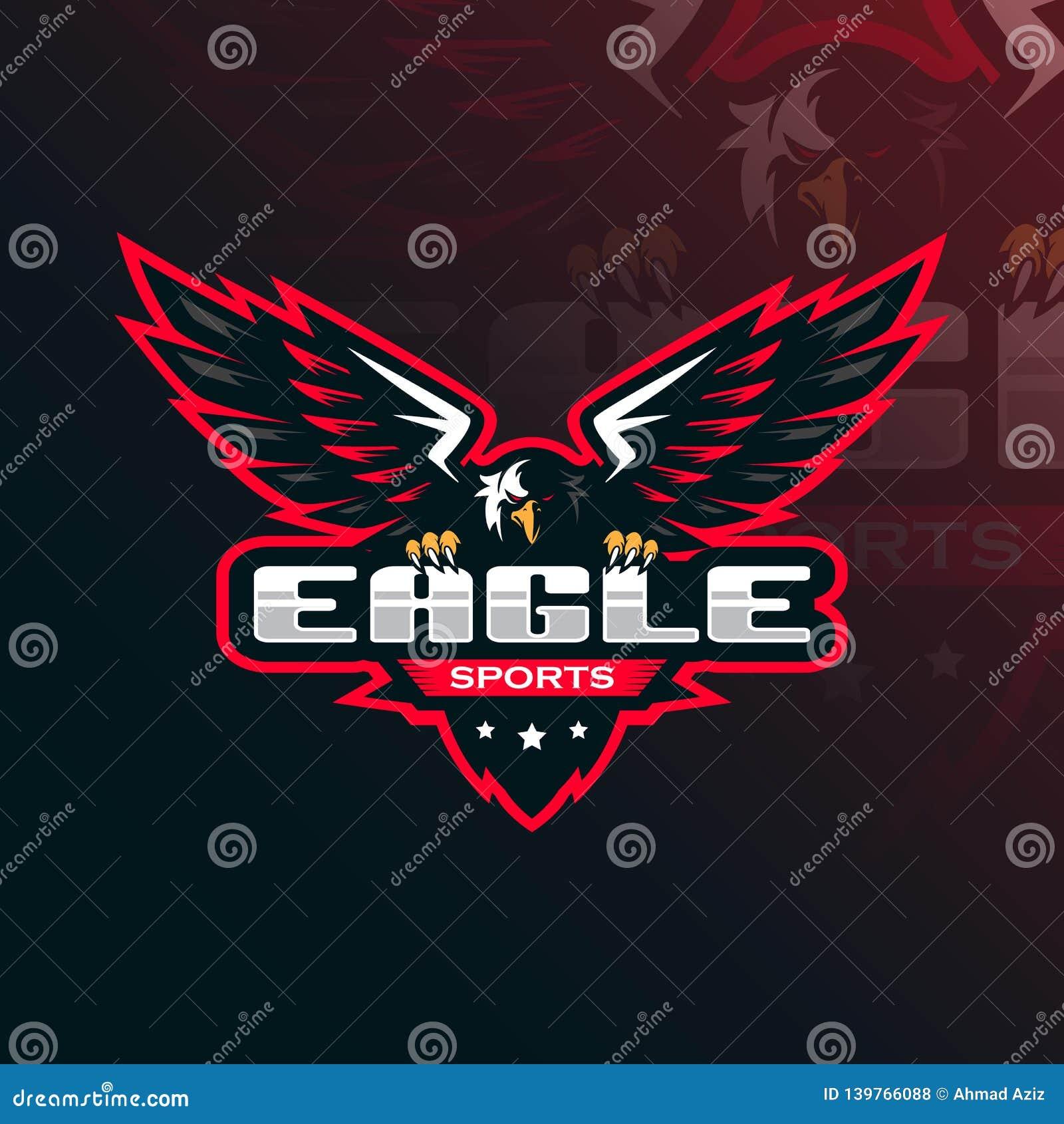 Дизайн логотипа талисмана вектора орла с современным стилем концепции иллюстрации для печатания значка, эмблемы и футболки Иллюст