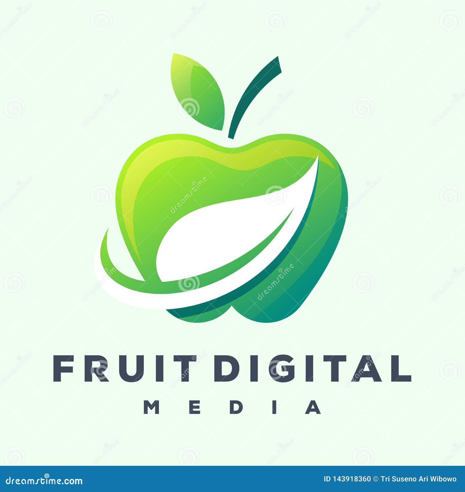 Дизайн логотипа Яблока готовый для использования