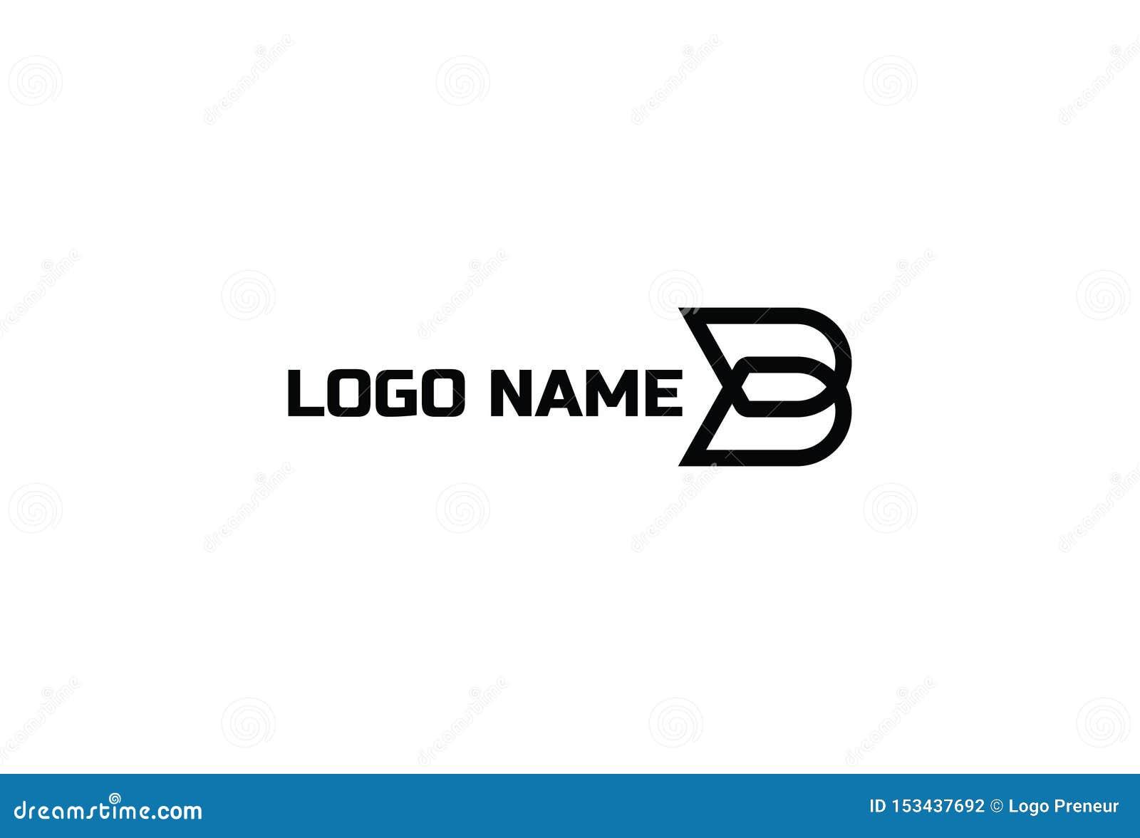 Дизайн логотипа b вектора