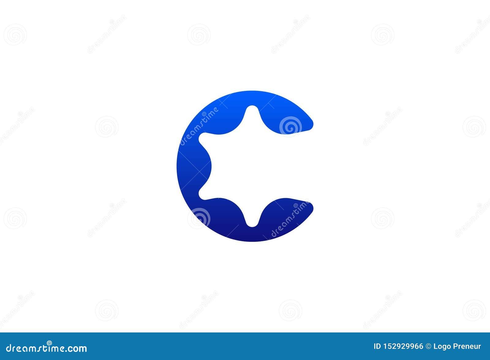Дизайн логотипа c письма вектора