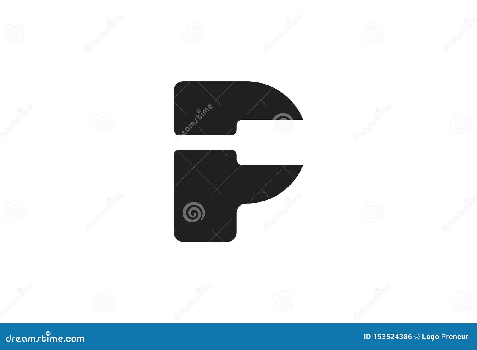 Дизайн логотипа p алфавита вектора