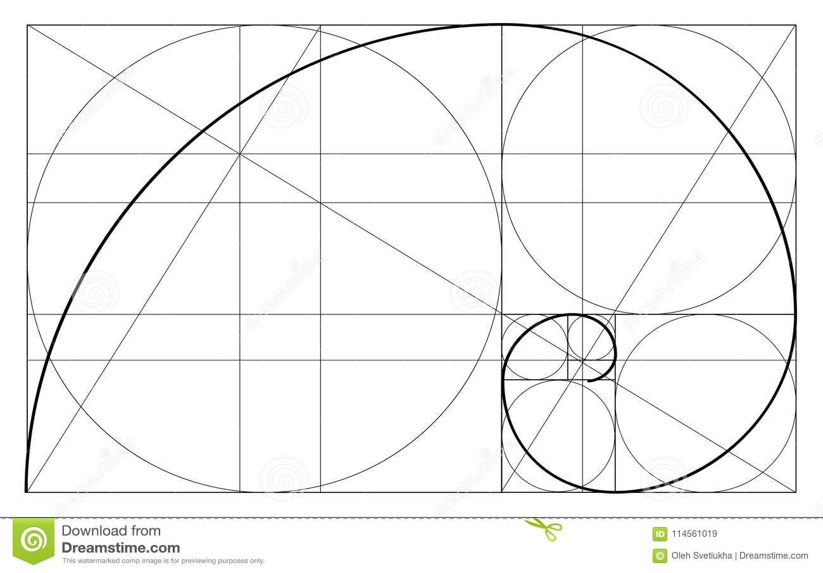 Дизайн минималистичного стиля золотистый коэффициент геометрические формы Круги в золотой пропорции Футуристическая конструкция л