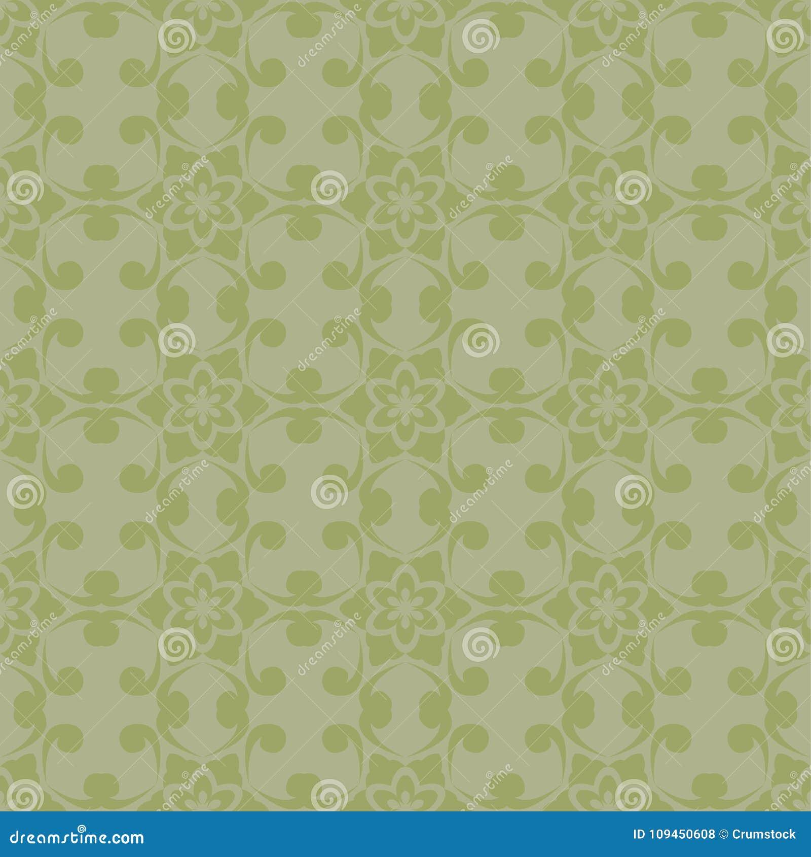 Дизайн прованского зеленого цвета флористический картина безшовная