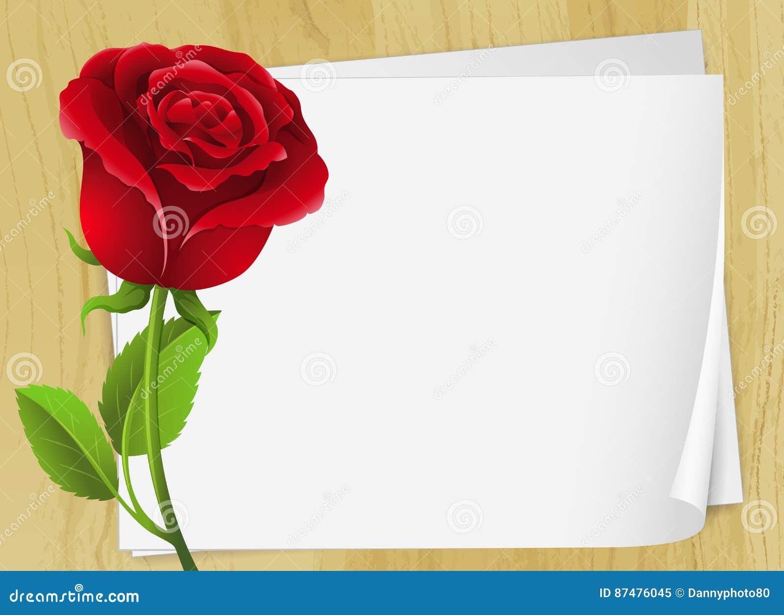 Дизайн рамки с красной розой
