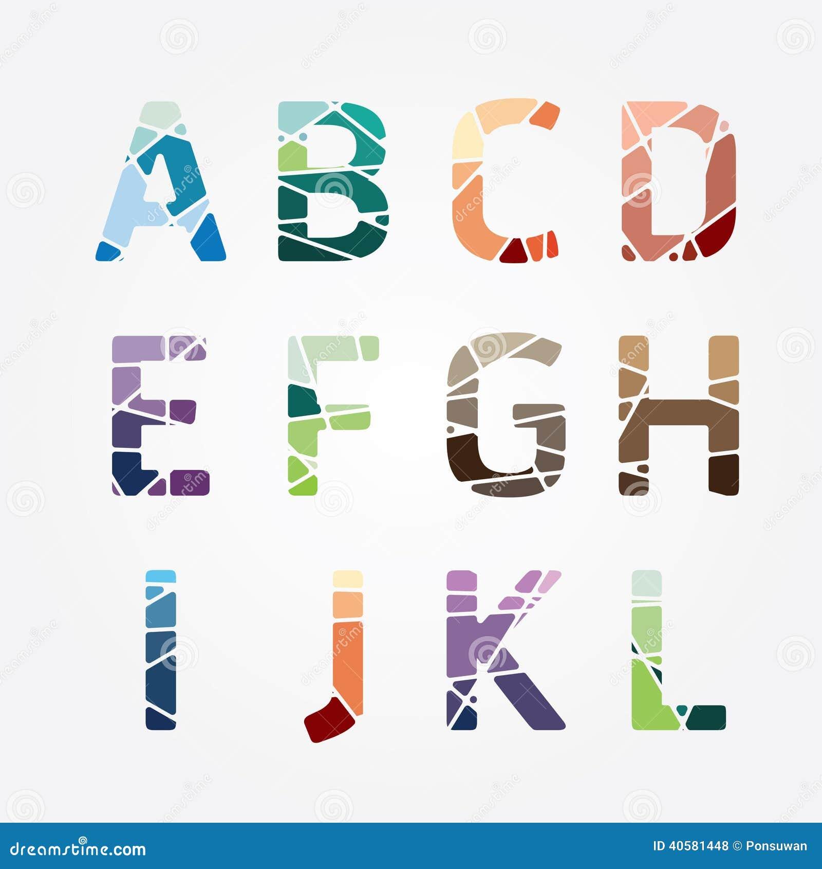 Дизайн стиля конспекта цвета алфавита современный также вектор иллюстрации притяжки corel