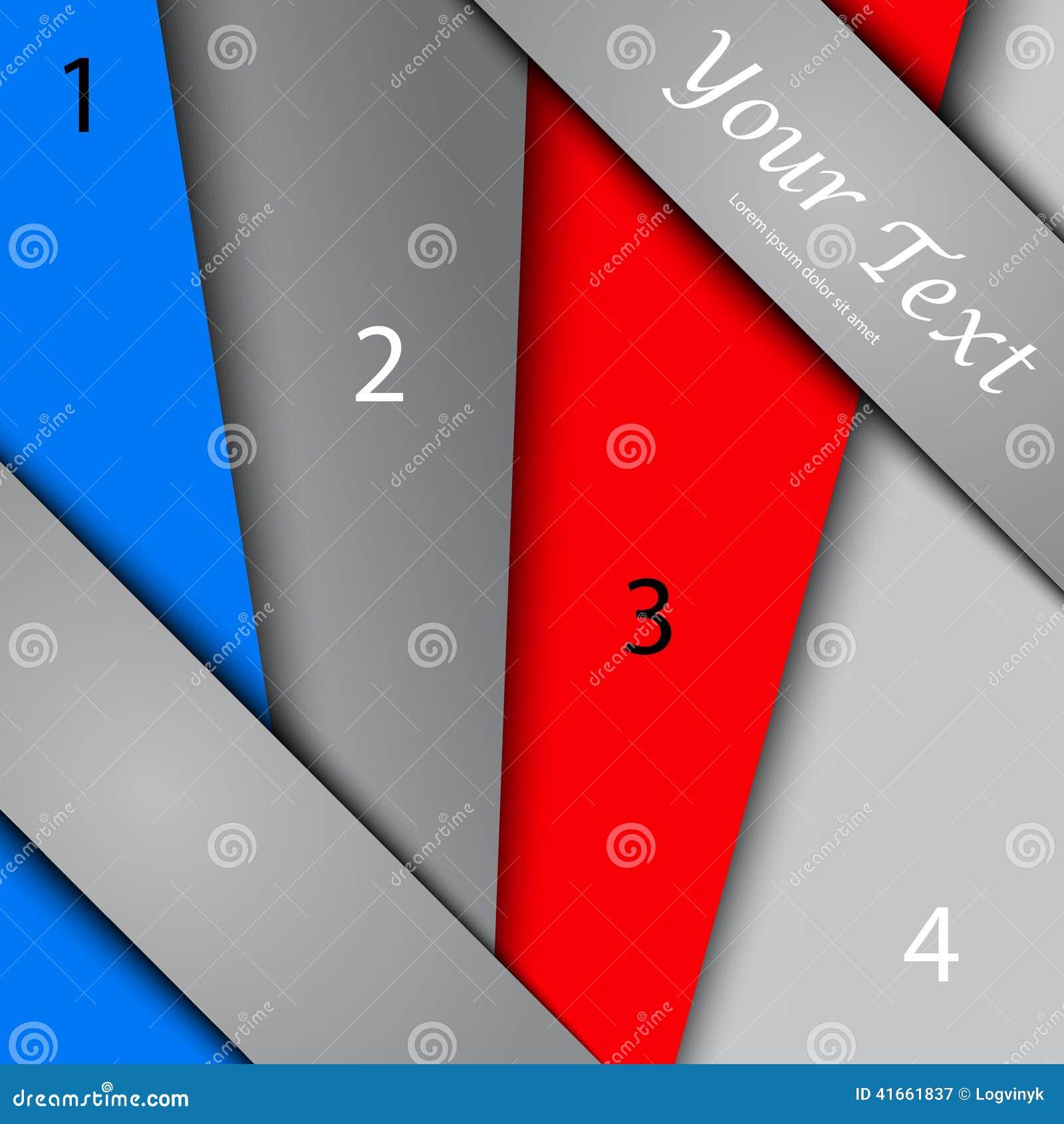 Дизайн с знаменами цвета, шаблон представления