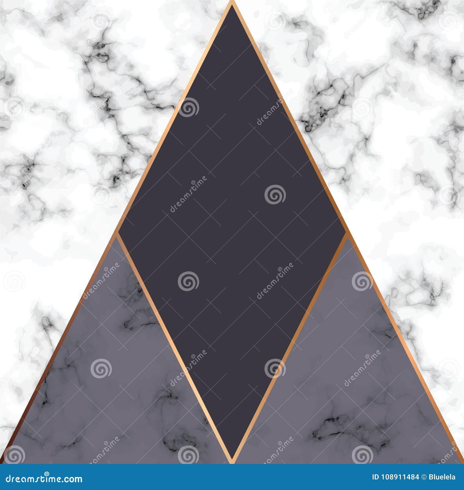 Дизайн с золотыми геометрическими линиями, черно-белая мраморизуя поверхность текстуры вектора мраморный, современная роскошная п