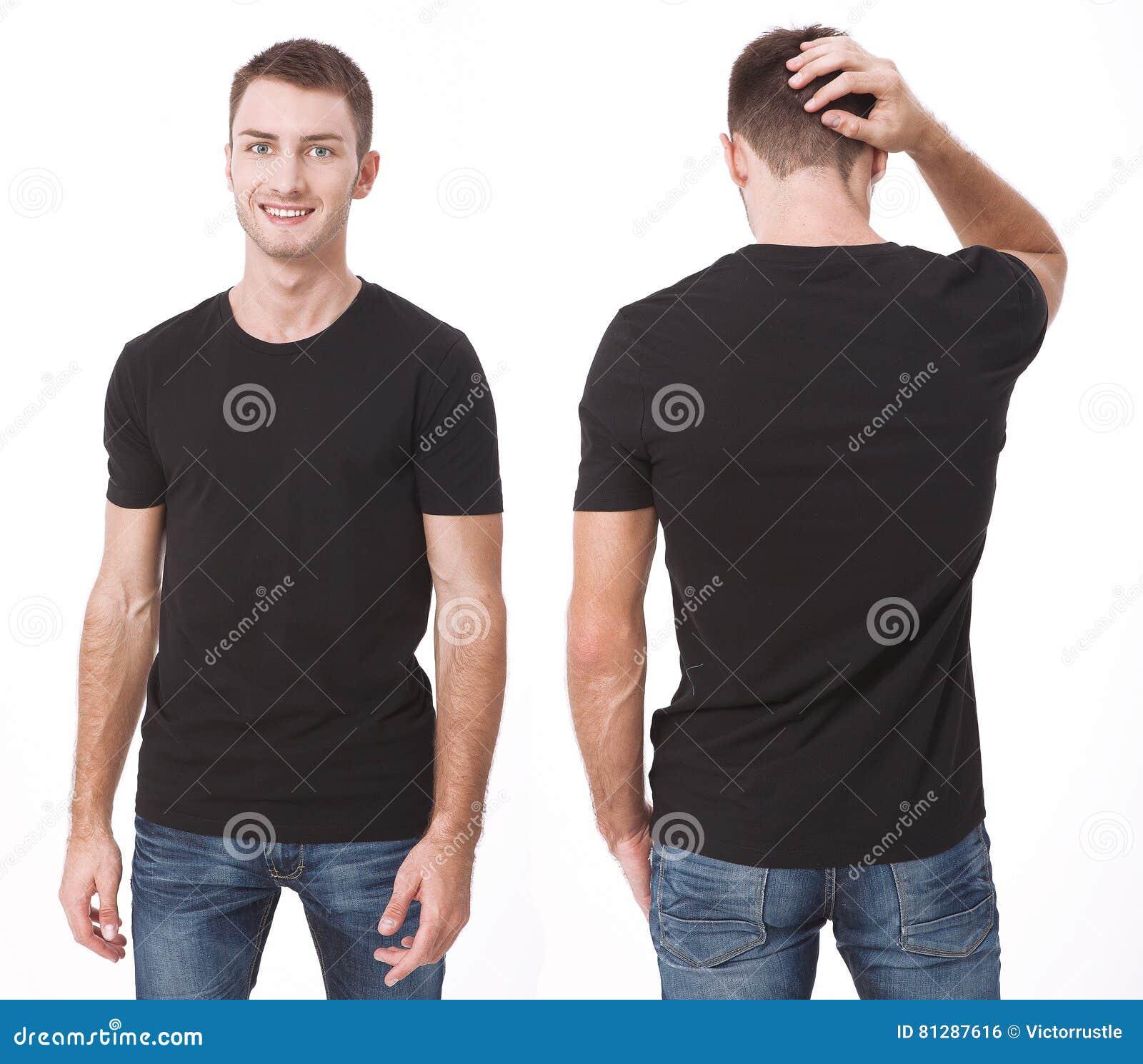 Дизайн футболки и концепция людей - близкая вверх молодого человека в пустой белой футболке Чистая насмешка рубашки вверх для ком