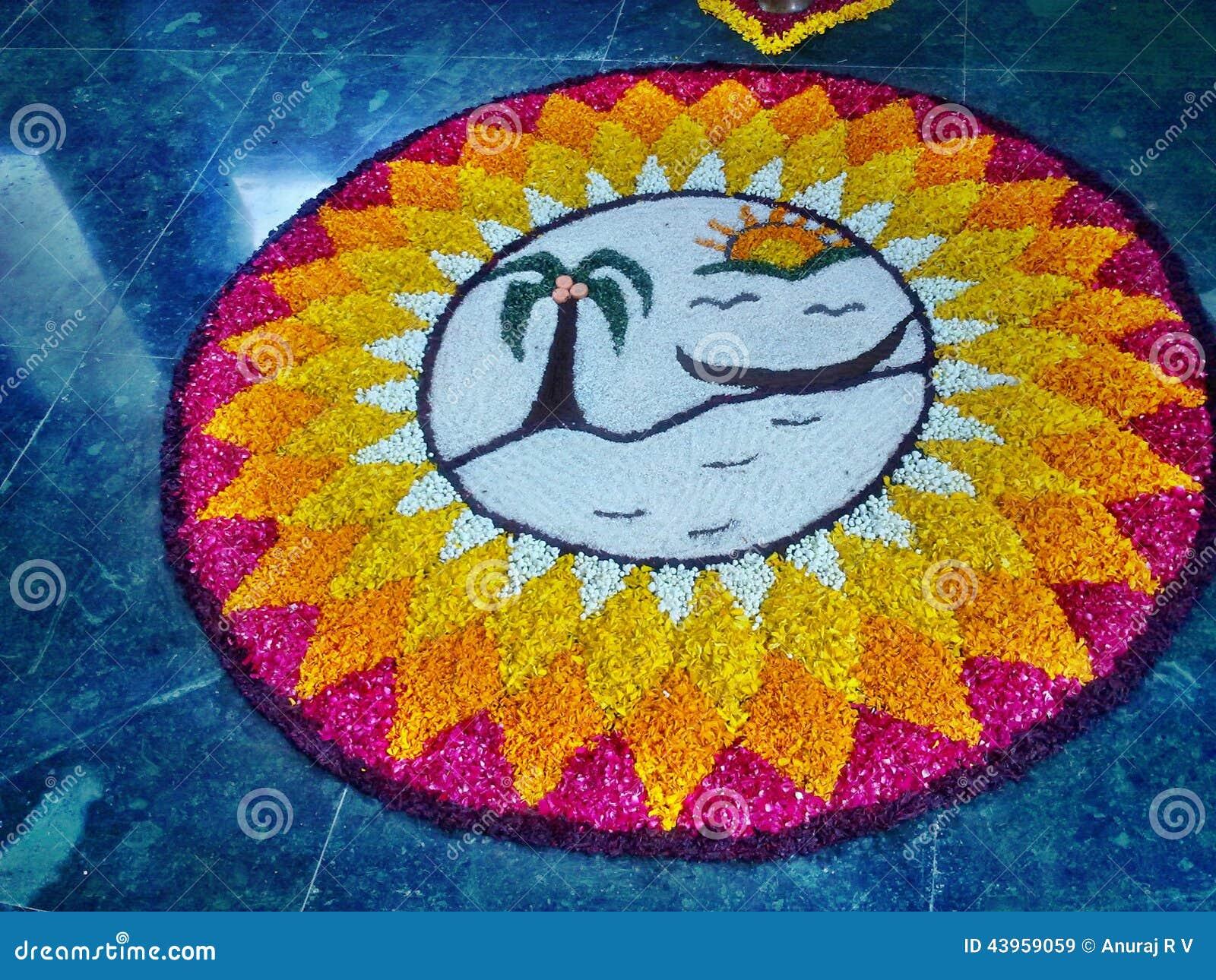 Дизайн цветка Onam