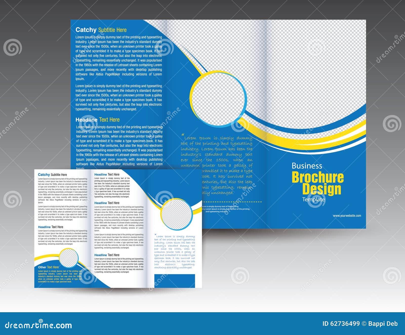 Дизайн шаблона брошюры корпоративного бизнеса trifold