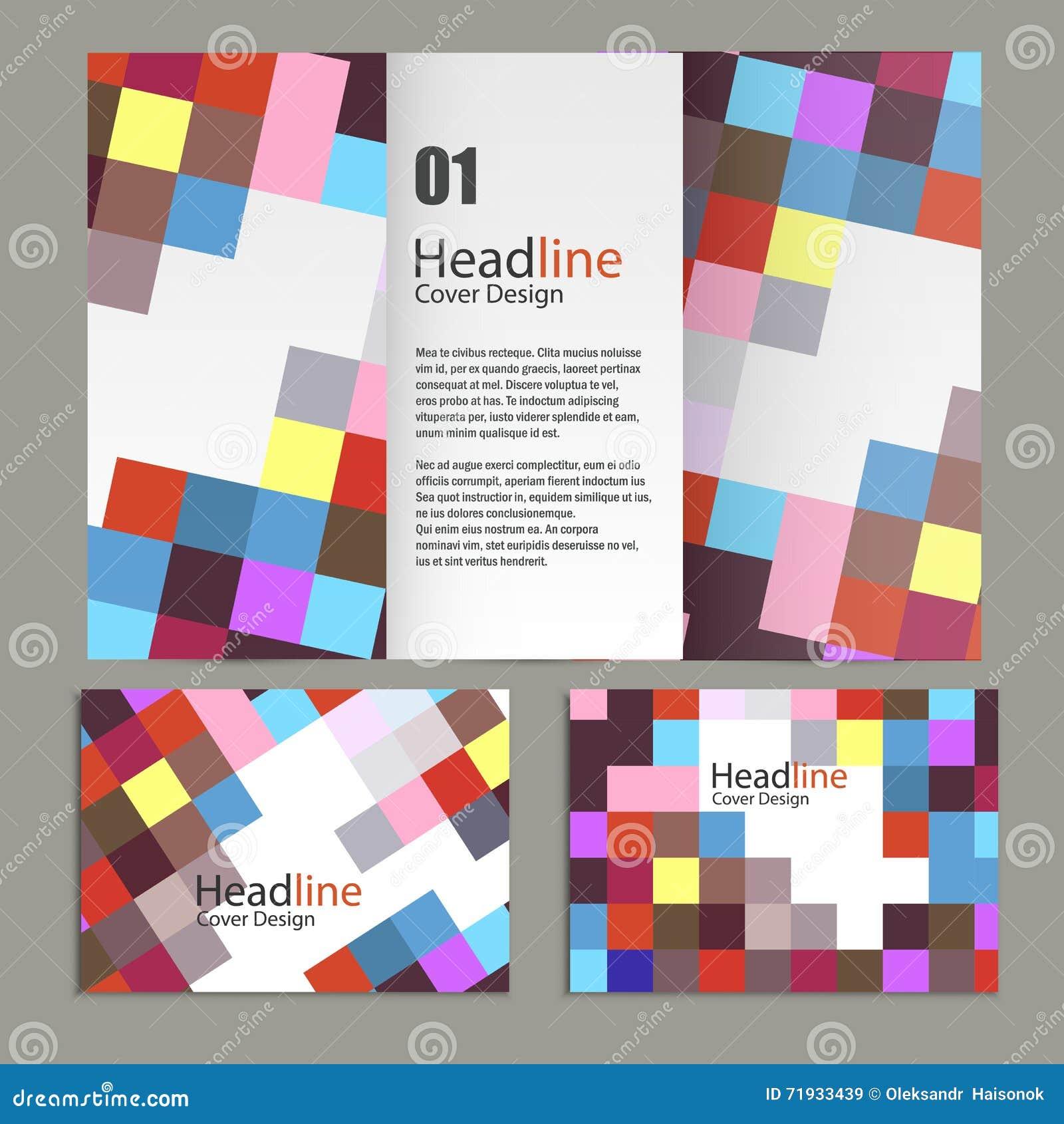 Дизайн шаблона брошюры с квадратами и прямоугольниками